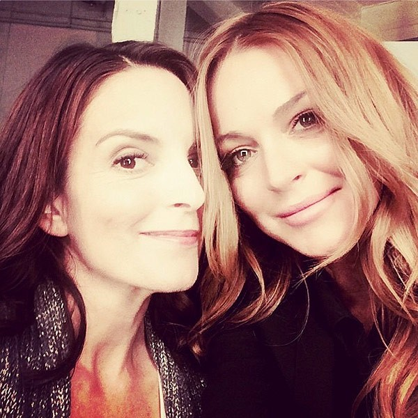 So Fetch: Lindsay Lohan & Tina Fey Celebrate 'Mean Girls' Reunion With A Selfie | Mean Girls