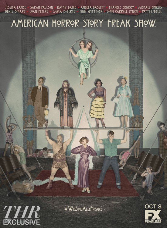 AHS Freak Show Reveals Circus-Retro Cast Poster And New Promo | AHS Freak Show
