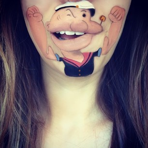 Makeup Artist Recreates Iconic Cartoon Characters On Her Lips | Cartoon