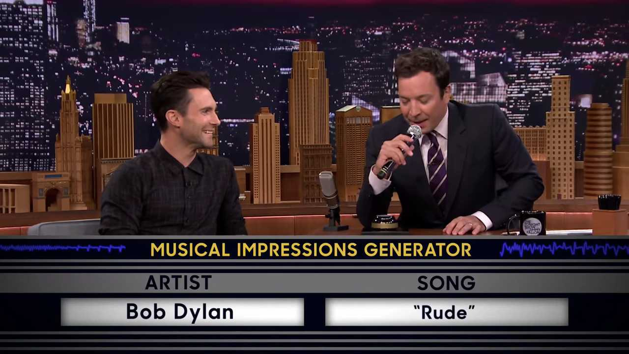 Check Out Adam Levine & Jimmy Fallon's Killer Voice Impressions On 'The Tonight Show' | the tonight show