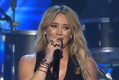 Hilary Duff Makes Stage Comeback on Australian X Factor | hilary duff