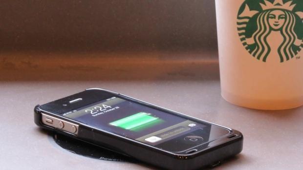 Wireless Cell Phone Charging Coming To Starbucks | starbucks