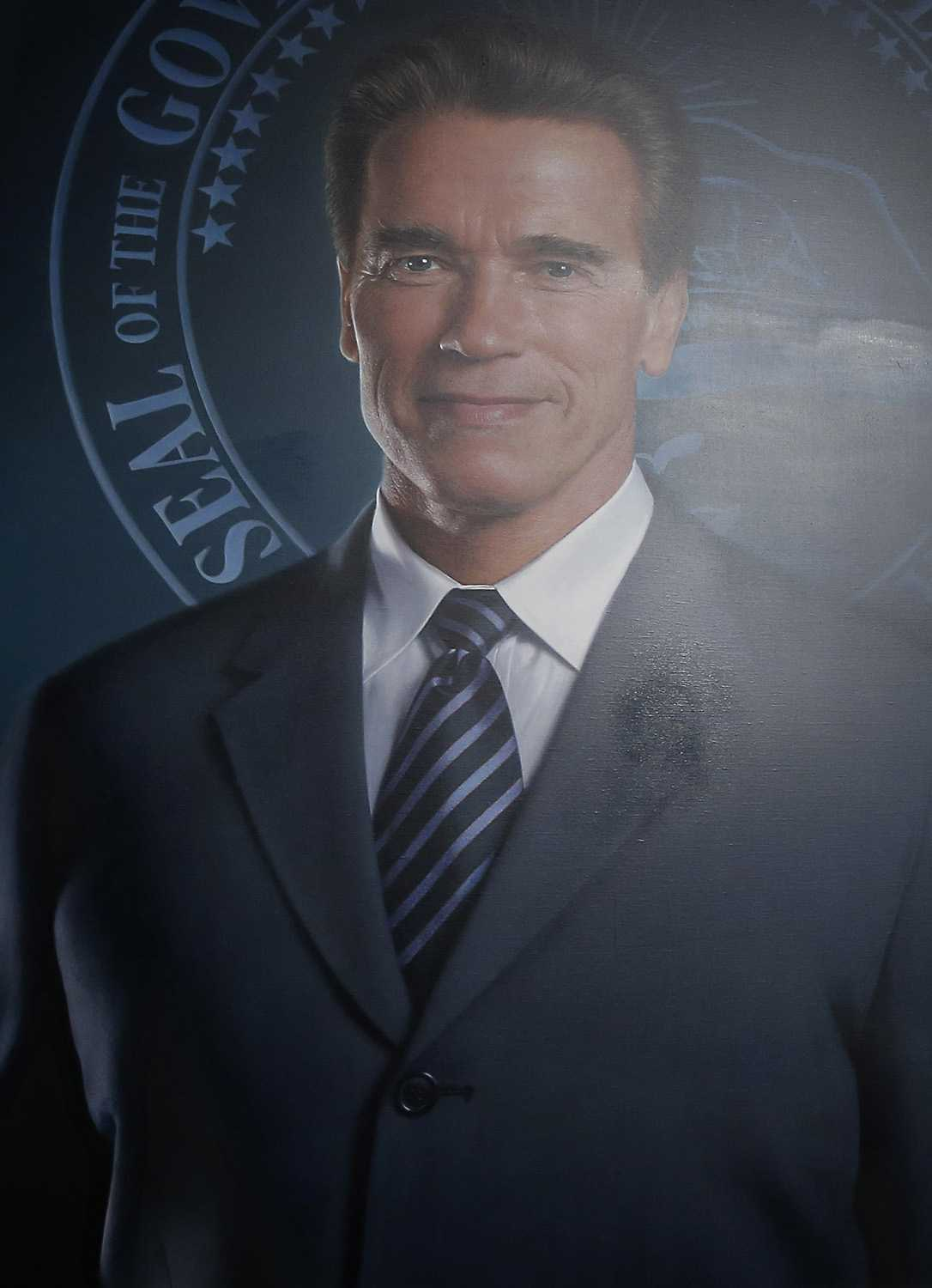 Someone Edited Arnold Schwarzenegger's Official Governor Portrait---And Left A Telltale Smudge | Arnold Schwarzenegger