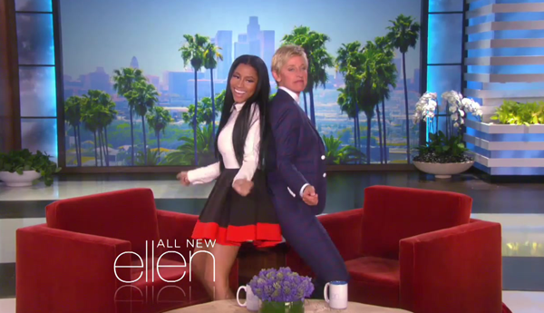 Watch Ellen DeGeneres Twerk In Nicki Minaj's 'Anaconda' Video | Ellen DeGeneres