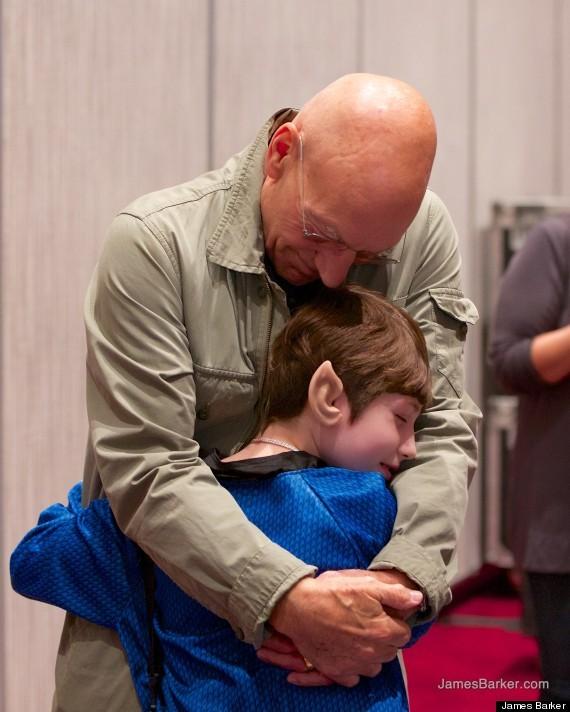 Patrick Stewart Meets Young Stark Trek Fan With Fatal Ilness   Patrick Stewart
