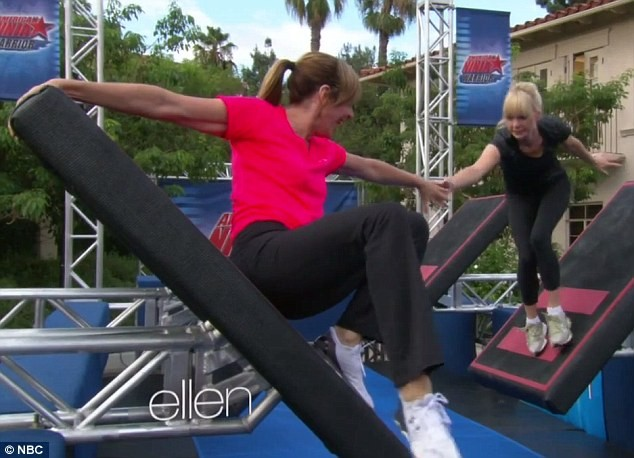 Allison Janney And Anna Farris Take On The American Ninja Warrior Parking Lot Course | Allison Janney