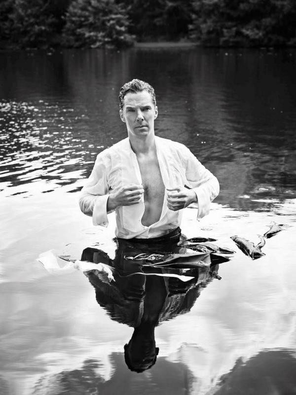 Benedict Cumberbatch Channels Wet, Half-Naked Mr. Darcy For Charity | benedict cumberbatch