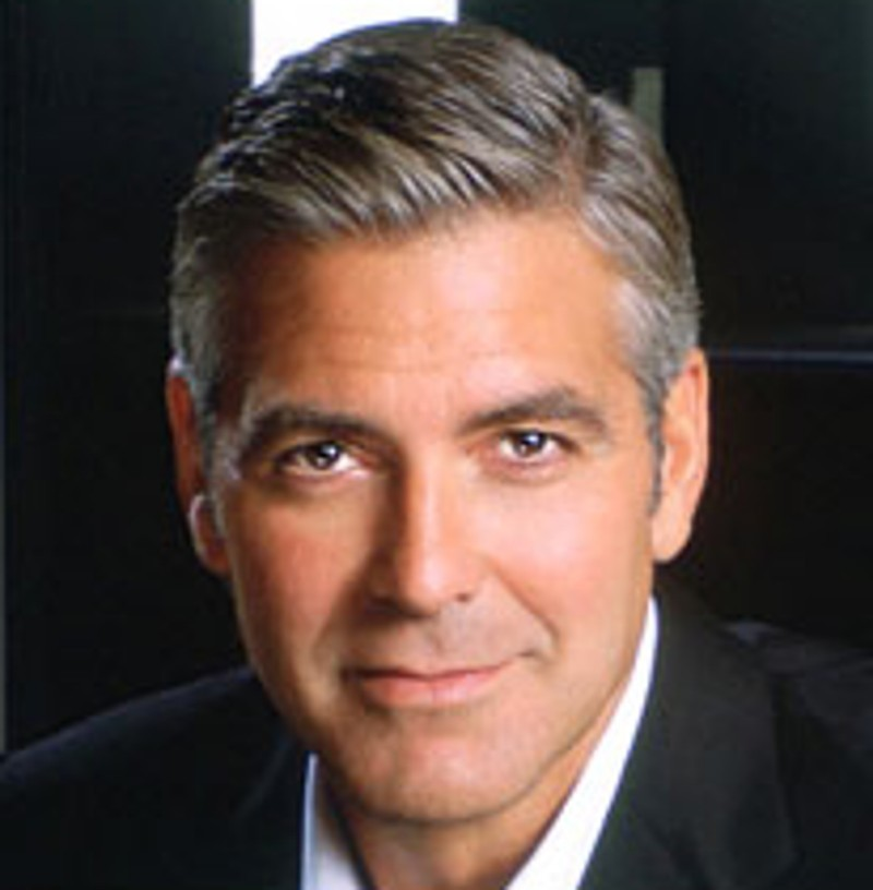 George Clooney Searches For A Smooch On Downton Abbey | George Clooney
