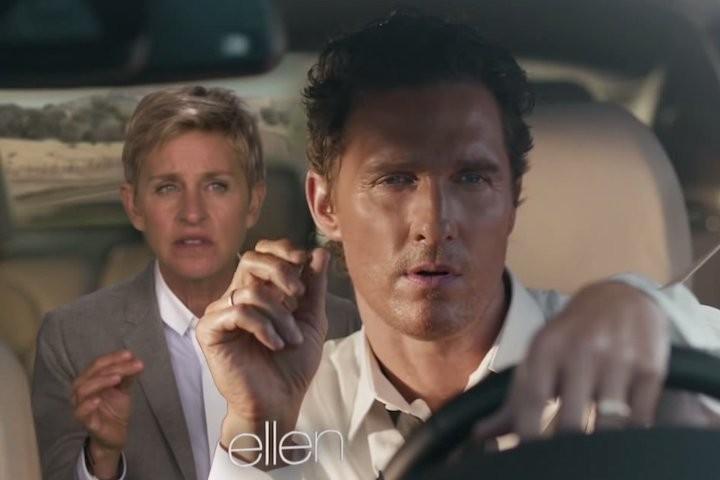 Ellen DeGeneres Spoofs Matthew McConaughey's Lincoln Ad   Ellen DeGeneres