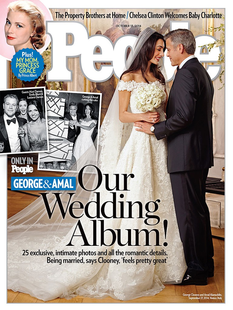George Clooney And Amal Alamuddin Share Wedding Photos With People, And Donated Money To Charity | George Clooney