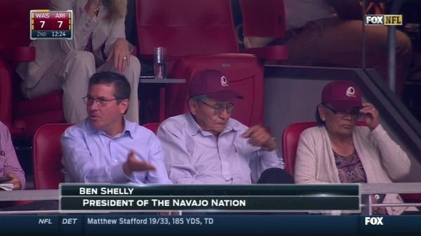 Navajo Nation President Seen At Washington Redskins Game With Team Owner | Navajo Nation