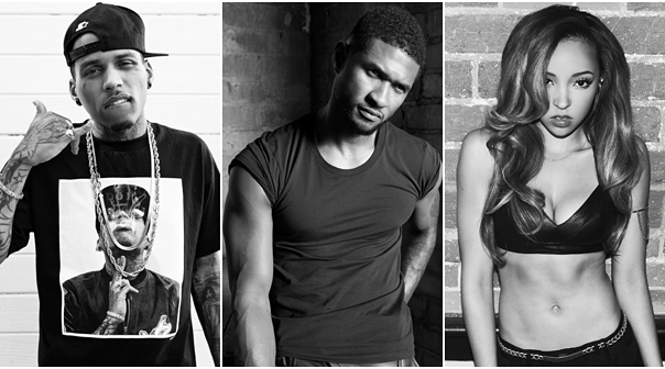 Usher And Tinashe Join Kid Ink On Set Of 'Body Language' Music Video | Kid Ink