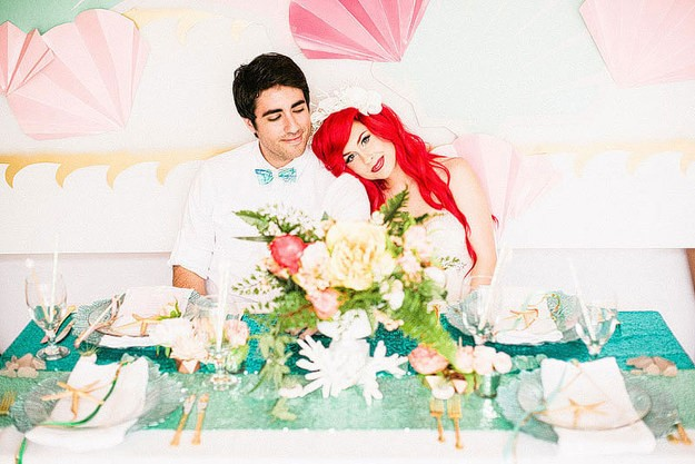 Photographer Brings The Little Mermaid Wedding To Life  | The Little Mermaid