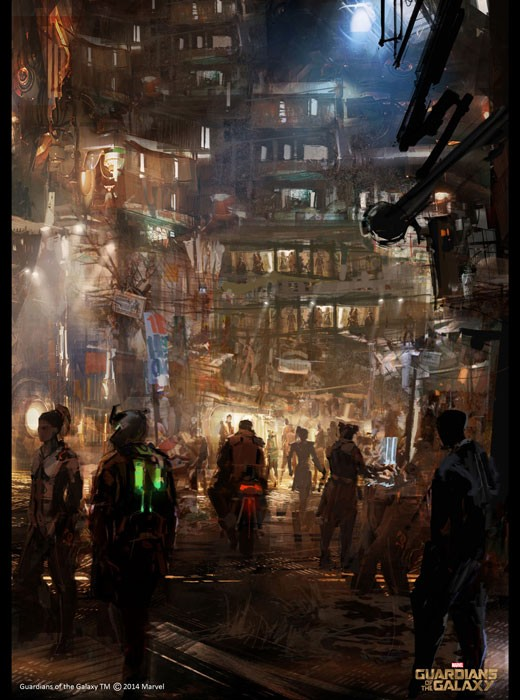 Stunning 'Guardians Of The Galaxy' Concept Art Lands Online | guardians of the galaxy