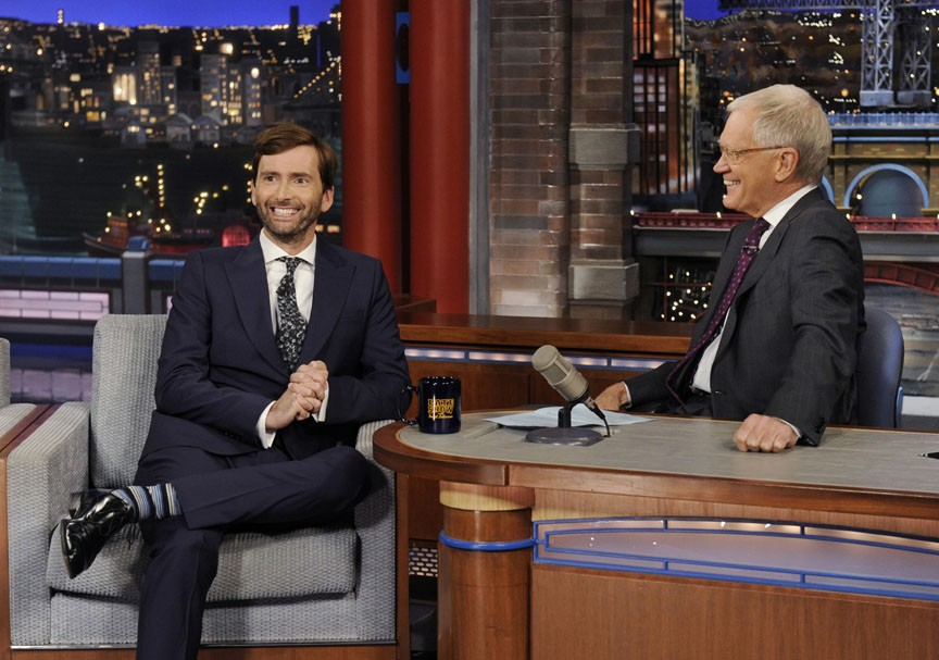 David Tennant Gives David Letterman a Doctor Who Lesson | david tennant