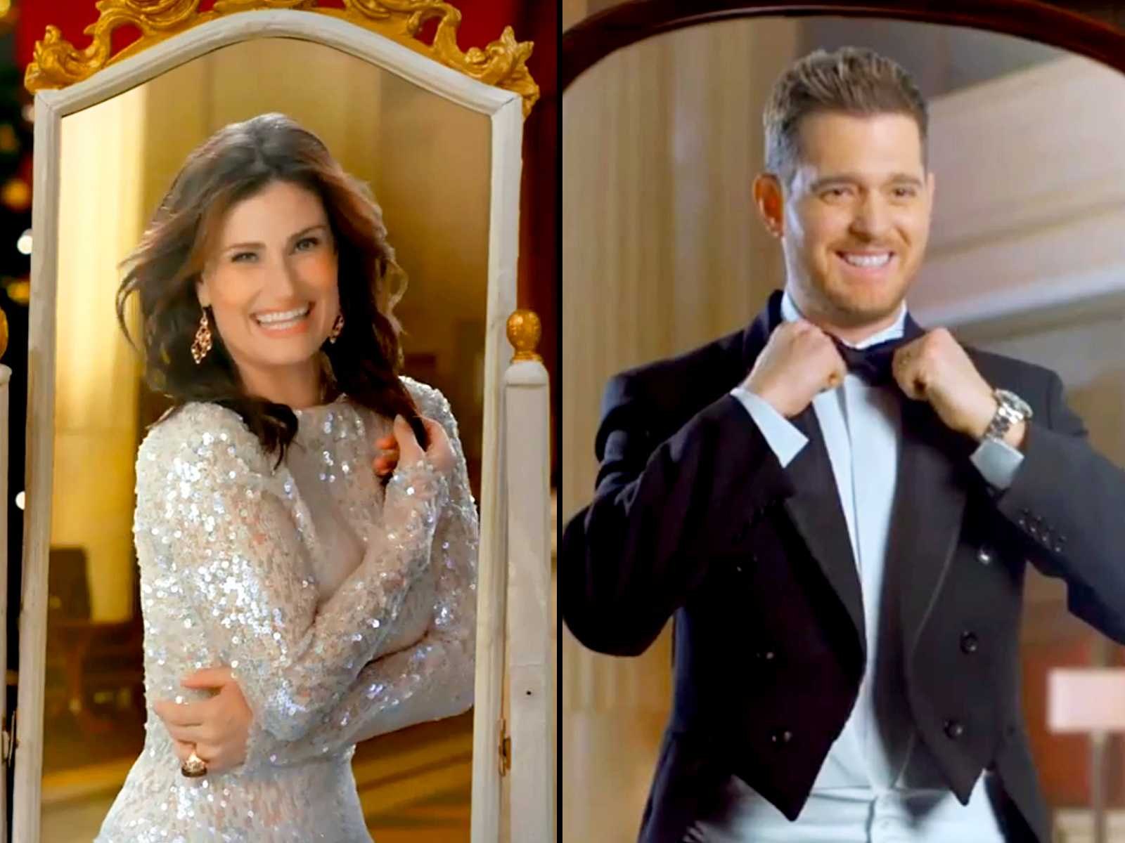 Idina Menzel and Michael Bublé Team Up For A Holiday Classic | Idina Menzel