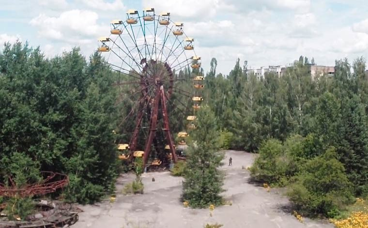 Drone Provides Footage Of Pripyat, Chernobyl 28 Years After Nuclear Disaster | Chernobyl