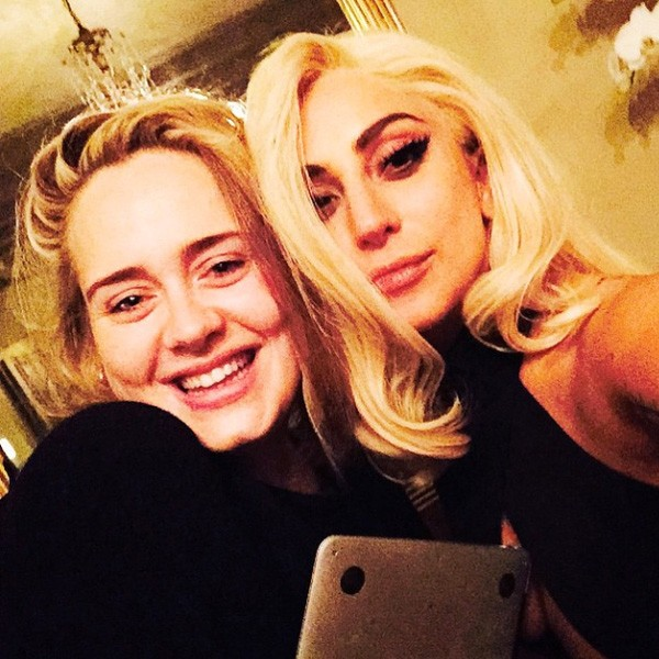 Lady Gaga And Adele Spark Collab Rumors With Selfie | Lady Gaga