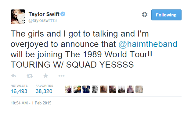 HAIM To Join Taylor Swift On Her Upcoming 1989 Tour | HAIM