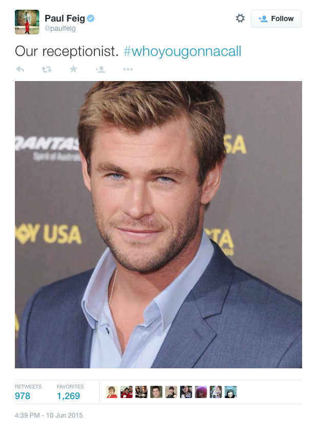 Who You Gonna Call? Chris Hemsworth Joins Ghostbusters Reboot | Chris Hemsworth