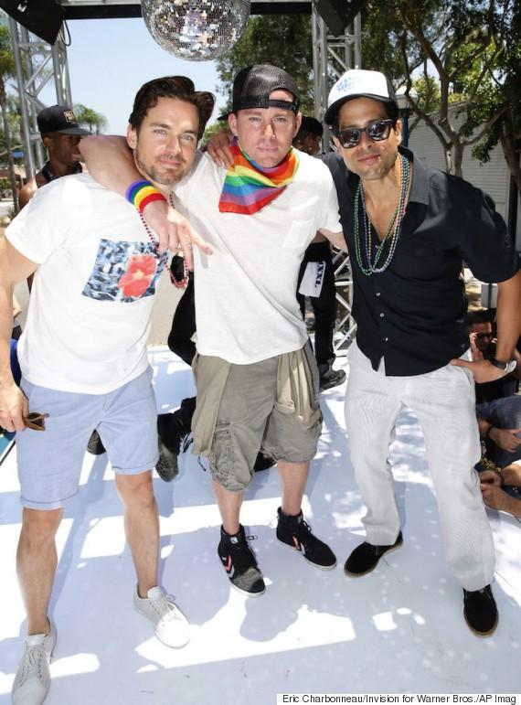 Magic Mike XXL's Channing Tatum And Matt Bomer Bust A Move At LA Pride | Magic Mike XXL