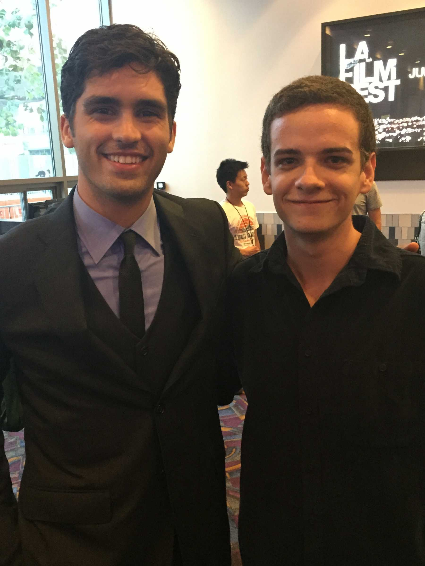 PopWrapped's Aedan Juvet with Scream star Tom Maden