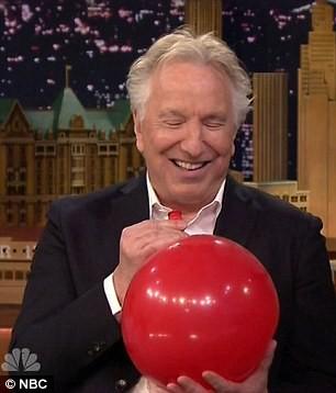 Alan Rickman Ups His Helium Game For The Tonight Show | Alan Rickman