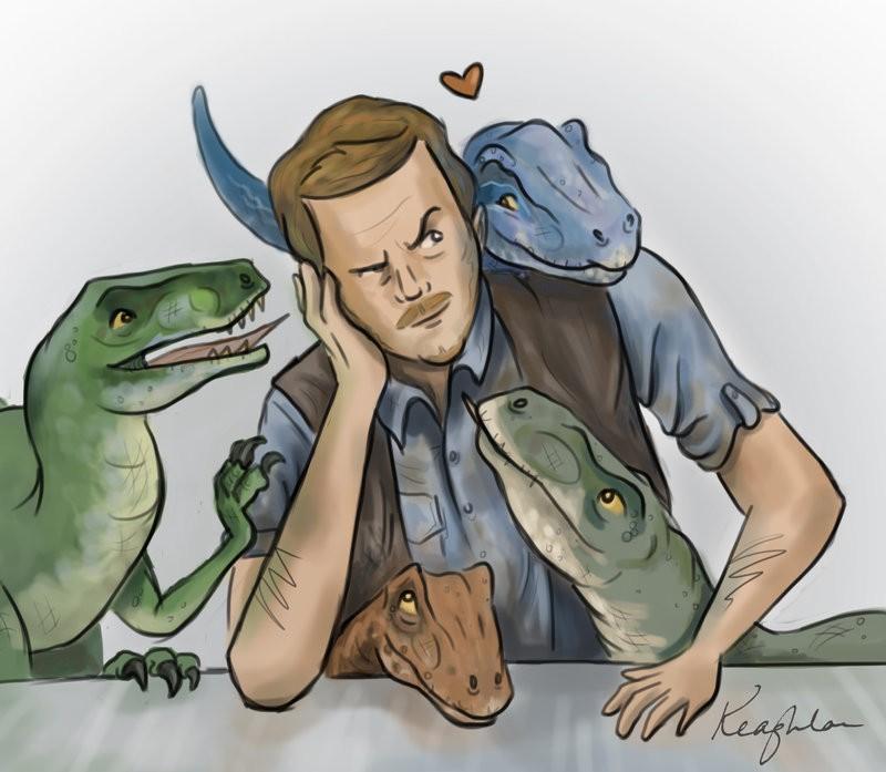 Pop Art: Owen Grady And His Magical Raptor Squad | Raptor