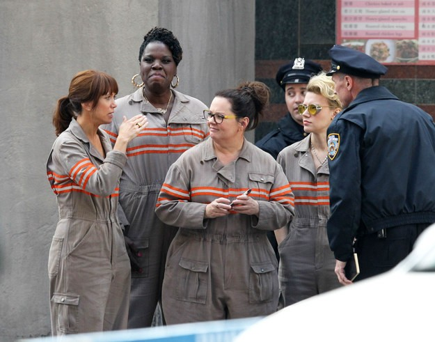 Look At The Newest Pics From The Ghostbusters' Set | Ghostbusters