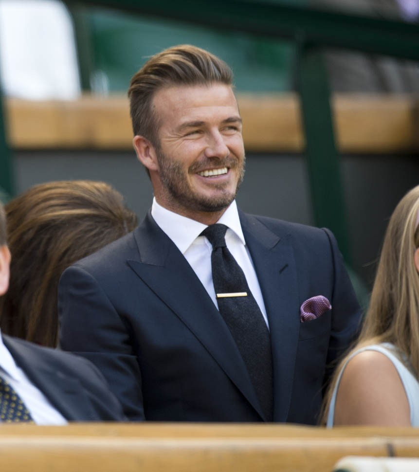 David Beckham Shows Off Ball Skills At Wimbledon | David Beckham