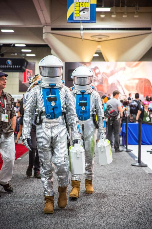 Adam Savage And Chris Hadfield Go Incognito - As Astronauts - At SDCC | Adam Savage