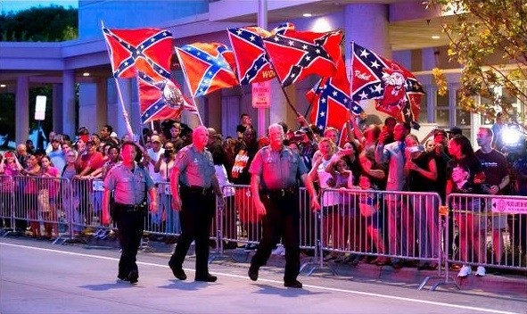 Confederate Flags Welcome President Obama In Oklahoma | Oklahoma