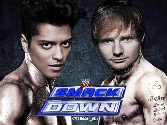 Bruno Mars And Ed Sheeran Make Light Of Taylor Swift And Nicki Minaj's Spat | Bruno Mars