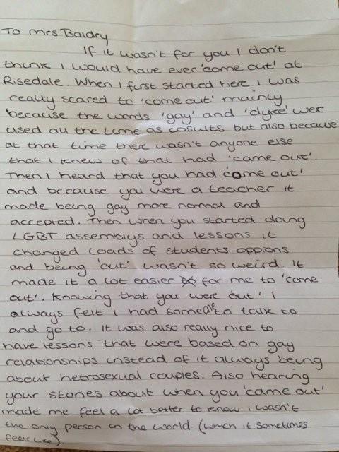 Liverpool Teacher Shares Touching Note From Student | Liverpool Teacher