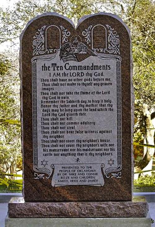Oklahoma Supreme Court Says No To Ten Commandments Monument | ten commandments monument