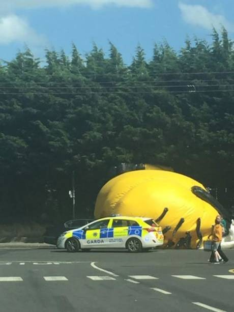 Traffic Congestion Ahead: Giant Minion On The Road | Minion