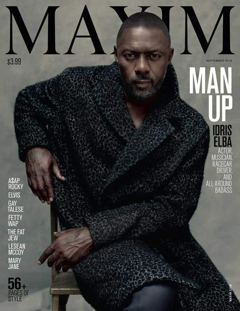 Idris Elba Is Maxim's First Solo Male Cover Star | idris elba