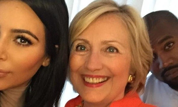 Kim & Kanye Snapped A Selfie To Show Support For Hillary Clinton! | clinton