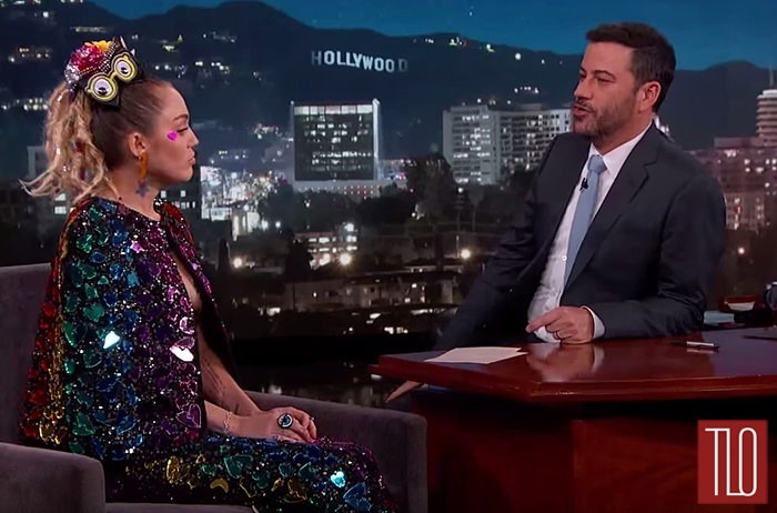 Miley Cyrus Makes Jimmy Kimmel Super Uncomfortable With Sparkly Pasties | Miley Cyrus