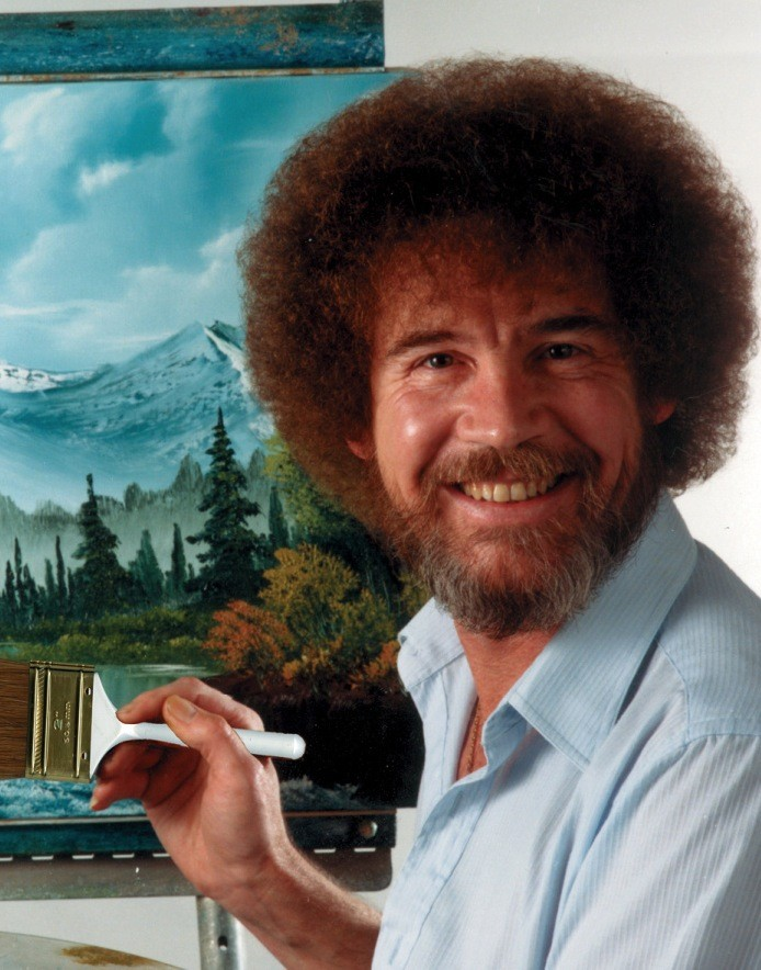 Bob Ross Painted In Greyscale For Color-Blind Fan | Bob Ross