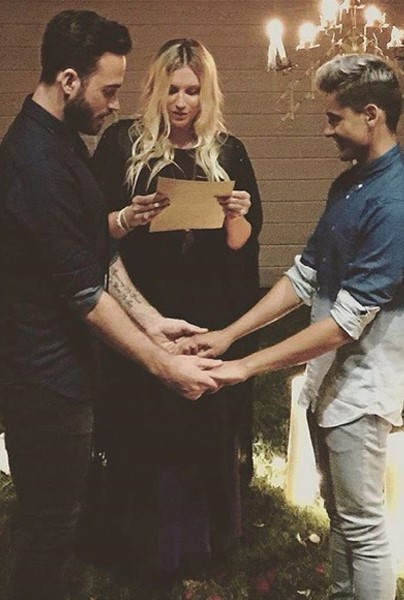 Kesha Officiates Her Hairstylist's Same-Sex Wedding | Kesha