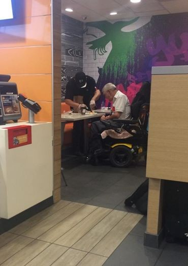 McDonald's Employee Helps Disabled Customer | McDonald's