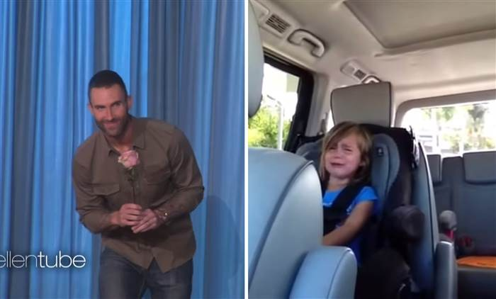 Adam Levine Meets The Little Girl Who Cried Over The News Of Him Getting Married | Adam Levine
