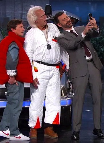 Marty McFly & Doc Brown Time Travel To The Real 2015 In Jimmy Kimmel Live | Travel