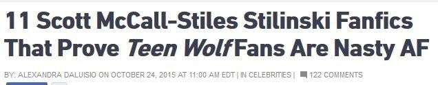Teen.Com Bullies And Shames Teen Wolf Fanfic Writers | Teen Wolf
