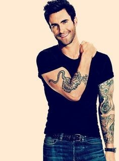 Adam Levine Shows Off A Mermaid Back Tattoo | Adam Levine