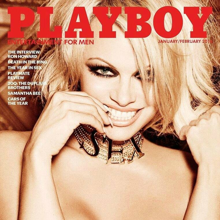 Playboy's Last Nude Issue Covered By Pamela Anderson | Pamela Anderson