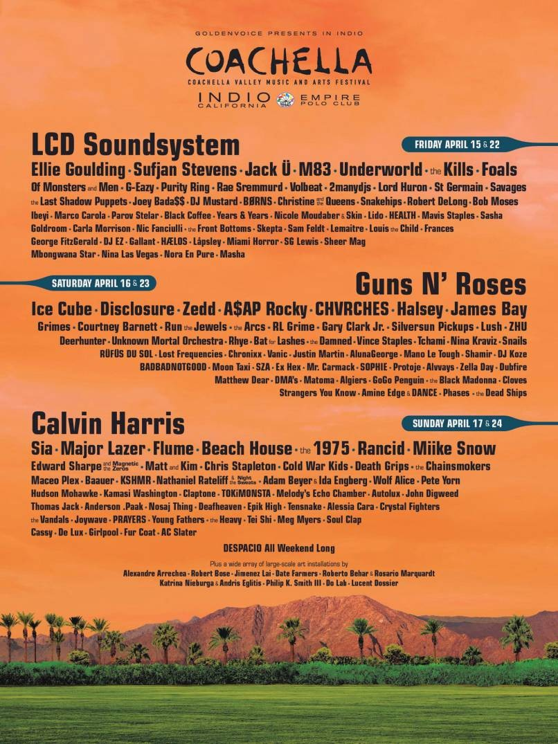 Sia, Halsey, And Guns N' Roses Join 2016 Coachella Lineup | Coachella
