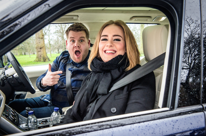 Adele Joins James Corden For Carpool Karaoke And It's Awesome | james corden