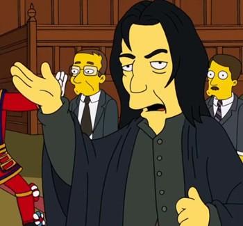 The Simpsons Tweet Honors Alan Rickman and David Bowie | Alan Rickman